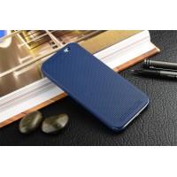Точечный чехол смарт флип с функциями оповещения для HTC One E8 Синий