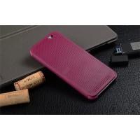 Точечный чехол смарт флип с функциями оповещения для HTC One E8 Фиолетовый