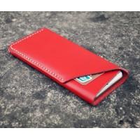 Кожаный дизайнерский z-образный мешок для Samsung Galaxy Note Edge Красный