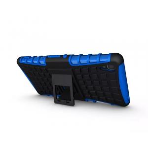 Силиконовый чехол экстрим защита для Sony Xperia Z3 Синий