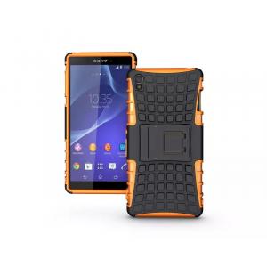 Силиконовый чехол экстрим защита для Sony Xperia Z3 Оранжевый