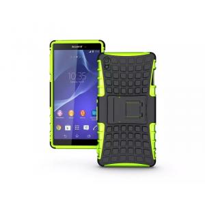 Силиконовый чехол экстрим защита для Sony Xperia Z3 Зеленый