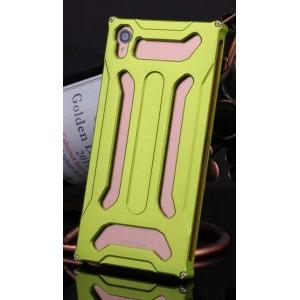 Металлический чехол повышенной защиты для Sony Xperia Z3 Зеленый