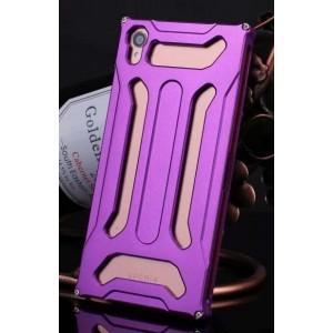 Металлический чехол повышенной защиты для Sony Xperia Z3 Фиолетовый
