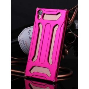 Металлический чехол повышенной защиты для Sony Xperia Z3 Пурпурный