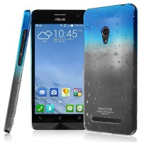 Пластиковый полупрозрачный чехол (эффект дождя) для ASUS Zenfone 5