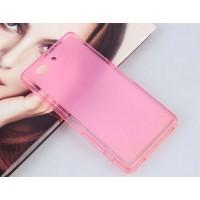 Силиконовый матовый полупрозрачный чехол для Sony Xperia Z3 Compact Розовый