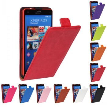 Чехол вертикальная книжка с магнитной застежкой для Sony Xperia Z3 Compact