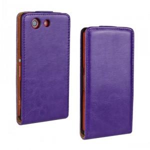 Чехол вертикальная книжка с магнитной застежкой для Sony Xperia Z3 Compact Фиолетовый