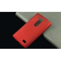 Пластиковый матовый непрозрачный чехол для LG L Fino Красный