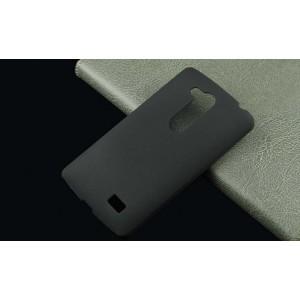 Пластиковый матовый непрозрачный чехол для LG L Fino Черный