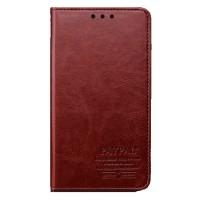 Кожаный винтажный чехол-подставка для Nokia Lumia 1520 Красный