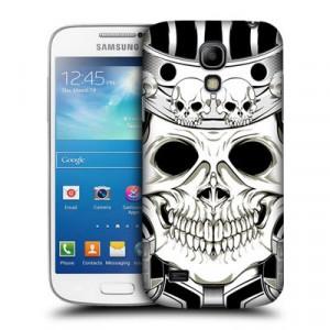 Пластиковый матовый дизайнерский чехол с принтом Sculls&Animals для Samsung Galaxy S4 Mini