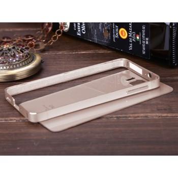 Двухкомпонентный чехол с металлическим бампером и поликарбонатной накладкой для Samsung Galaxy Alpha