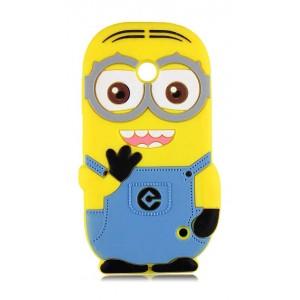 Силиконовый дизайнерский фигурный чехол Миньон для Nokia Lumia 630