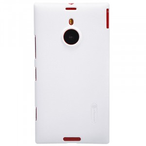 Премиум матовый пластиковый чехол для Nokia Lumia 1520 Белый