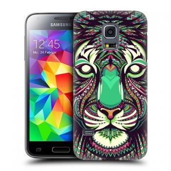 Пластиковый матовый дизайнерский чехол с принтом серия Animals для Samsung Galaxy S5 Mini