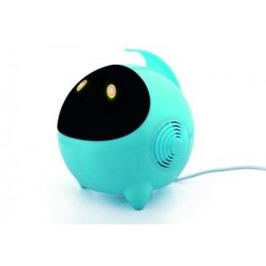 Портативные стереодинамики с регулятором громкости серия Alien 3W 60-20000Гц Голубой
