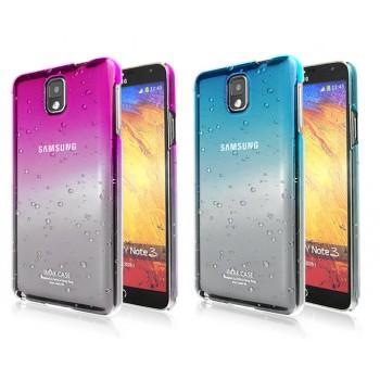 Пластиковый дизайнерский чехол с принтом эффект дождя для Samsung Galaxy Note 3