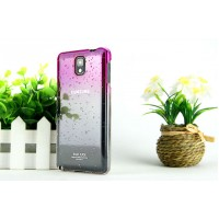 Пластиковый дизайнерский чехол с принтом эффект дождя для Samsung Galaxy Note 3 Пурпурный