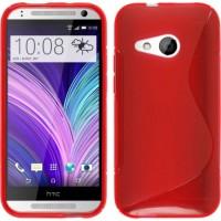 Силиконовый S чехол для HTC One mini 2 Красный
