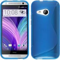 Силиконовый S чехол для HTC One mini 2 Синий