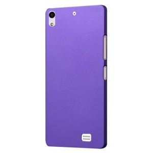 Пластиковый матовый непрозрачный чехол для Fly IQ4516 Tornado Slim Octa Фиолетовый