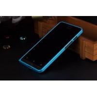 Металлический бампер для ASUS Zenfone 6 Голубой