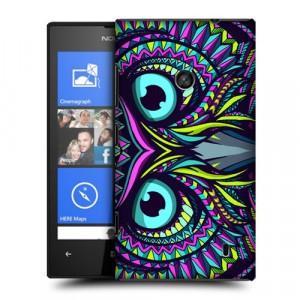 Пластиковый матовый дизайнерский чехол с принтом Phychodelic для Nokia Lumia 520