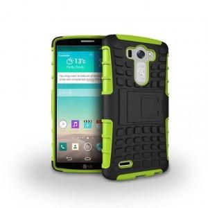 Силиконовый чехол экстрим защита для LG G3 (Dual-LTE) Зеленый