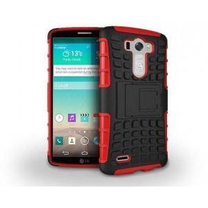 Силиконовый чехол экстрим защита для LG G3 (Dual-LTE) Красный