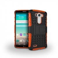 Силиконовый чехол экстрим защита для LG G3 (Dual-LTE) Оранжевый