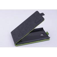 Чехол вертикальная книжка на пластиковой основе с магнитной застежкой для Lenovo S860 Черный