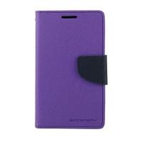 Чехол портмоне подставка на силиконовой основе с защелкой для Nokia X2 Фиолетовый