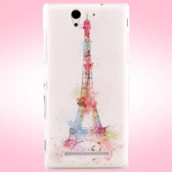 Пластиковый матовый дизайнерский чехол с принтом Pastel для Sony Xperia C3