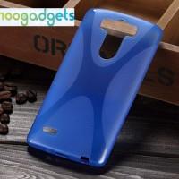 Силиконовый X чехол для LG G3 S Синий