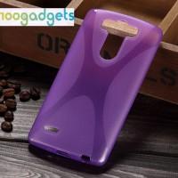 Силиконовый X чехол для LG G3 S Фиолетовый