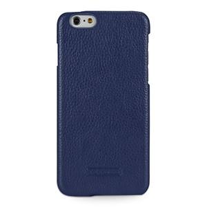 Кожаный чехол накладка (нат. кожа) для Iphone 6 Синий