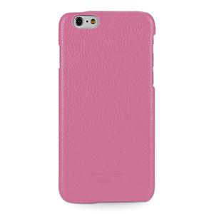 Кожаный чехол накладка (нат. кожа) для Iphone 6 Розовый