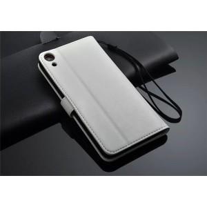 Чехол портмоне подставка для HTC Desire 820 Белый