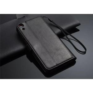 Чехол портмоне подставка для HTC Desire 820 Черный
