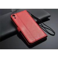 Чехол портмоне подставка для HTC Desire 820 Красный
