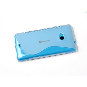 Силиконовый S чехол для Microsoft Lumia 535 Голубой