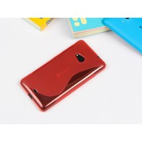 Силиконовый S чехол для Microsoft Lumia 535 Красный