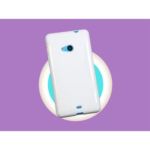 Силиконовый S чехол для Microsoft Lumia 535 Белый