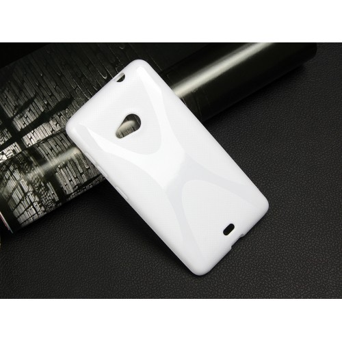Силиконовый X чехол для Microsoft Lumia 535 Белый