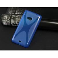 Силиконовый X чехол для Microsoft Lumia 535 Синий