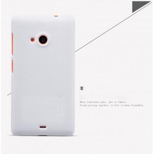 Пластиковый матовый нескользящий премиум чехол для Microsoft Lumia 535