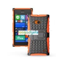 Силиконовый чехол экстрим защита для Nokia Lumia 730/735 Оранжевый