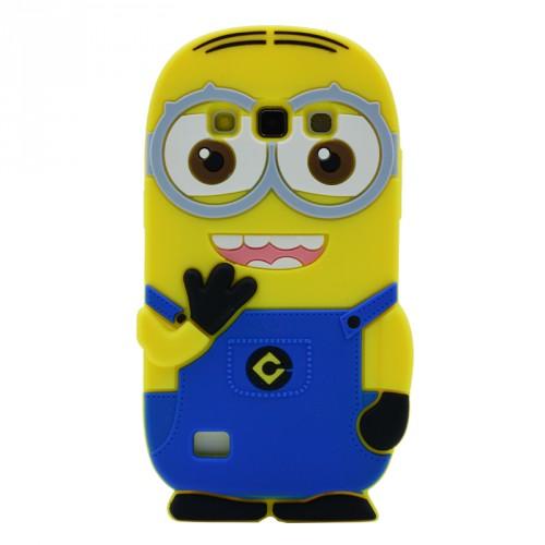 Силиконовый дизайнерский фигурный чехол  для Samsung Galaxy Core 2
